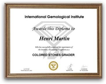 IGI Colored Stones Course