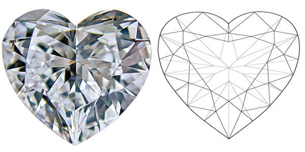 Heart Diamond Shapes