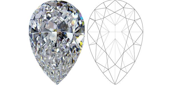 Pear Diamond Shapes